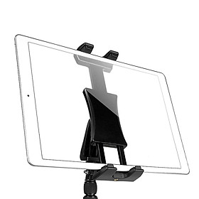 """Sturdy Rotatable Tiltable Tablet Phone Tripod Monopod Selfie Stick Ring Light Adapter Stand Clamp Holder for 5.5""""-13.5"""" iPad Air/Mini/Pro"""