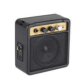 Mini Guitar Amplifier Amp Speaker 5W with 6.35mm Input 1/4 Inch Headphone Output Supports Volume Tone Adjustment