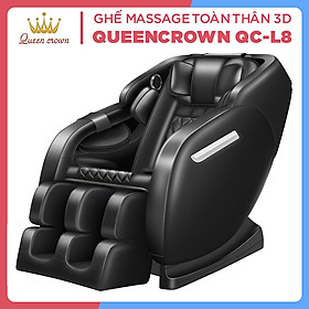 Ghế Massage QUEEN CROWN 3D QC-L8 Chất Lượng Cao - Máy Massage Toàn Thân Tích Hợp Nhiệt - Quà Tặng Ý Nghĩa Cho Người Thân