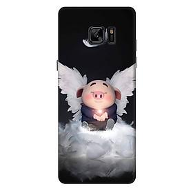 Ốp lưng nhựa cứng nhám dành cho Samsung Galaxy Note FE in hình Heo Con Thiên Thần