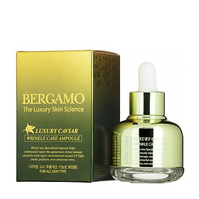 Tinh Chất ngăn ngừa Nám Tàn Nhang Bergamo Luxury Skin Science Luxury Caviar Wrinkle Care Ampoule-0