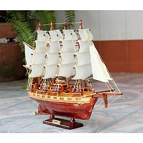 Mô hình thuyền buồm gỗ France II - thân tàu 40cm - trang trí nhà cửa - phòng khách - bàn làm việc, quà tặng tân gia - sinh nhật - khai trương