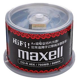 Bộ Đĩa CD MAXELL CD-R 48 Tốc Độ Đen 700M (50 Cái)