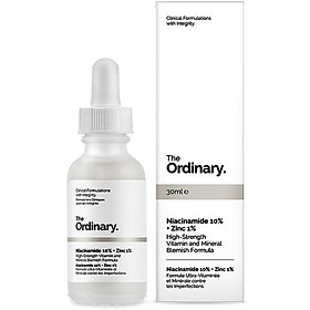 Serum Kiềm Dầu Trị Mụn The Ordinary Niacinamide 10% + Zinc 1% 30ml