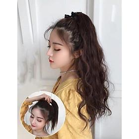 Tóc giả cột xù mì siêu xinh. Giống y tóc thật và đẹp hơn tóc thật. Chất tóc tơ loại 1 có thể dùng nhiệt để bấm uốn , duỗi gội thoải mái