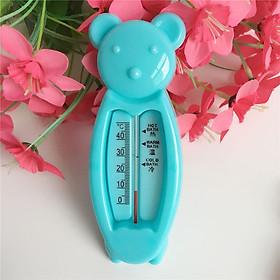 Dụng cụ đo nhiệt đồ nước tắm cho bé hình gấu, Chất liệu : nhựa PP an toàn, Kích thước :16*5.7cm, Trọng lượng :25.7cm (giao màu ngẫu nhiên)