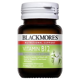 Blackmores Vitamin B12 (Cyanocobalamin) 100mcg 75 Tablets