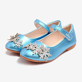Giày Búp Bê Bé Gái Biti's Công Chúa Disney DBB007811XDG - Xanh dương