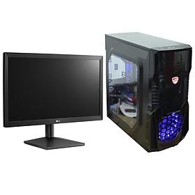 Bộ máy tính bàn văn phòng, pc building nguyên bộ để bàn cao cấp 4TechVP PC4822 sử dụng được 2 màn hình, CPU Core i5, đủ phím chuột dùng cho cá nhân, công ty, trường học đã cài đặt để sử dụng ngay, thiết kế nhỏ gọn dùng vào mạng, chơi game tốt. - Hàng Chính Hãng.