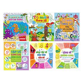 Bộ 6 Cuốn Tập Vẽ Các Loại - Phát Triển Khả Năng Sáng Tạo Cho Trẻ