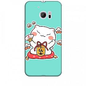 Ốp lưng dành cho điện thoại HTC 10 Mèo Thần Tài Mẫu 3