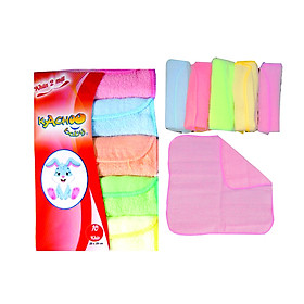 10 khăn sữa 2 mặt cotton KACHOO (25x25cm) 5 màu