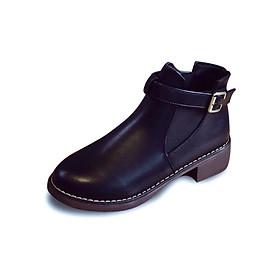 Giày chelsea boots nữ có đai Rozalo RM3758