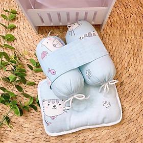 Bộ Chặn và gối bông vải xô cho bé