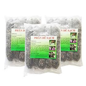 Phân dê túi lưới đã qua xử lý (5 túi/bịch - dài 29 cm/túi) - Combo 3 gói   Dùng để bỏ vào gốc hoa lan, bonsai