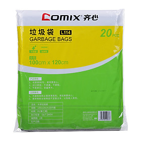Túi Đựng Rác Đen Comix L114 (100*120cm) (20 Cái)