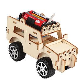 Bộ đồ chơi khoa học tự làm xe tải bằng gỗ – DIY Wood Steam