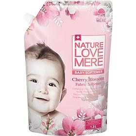 Nước Xả Dịu Nhẹ Cho Bé Nature Love Mere Hương Cherry Túi 1.3L