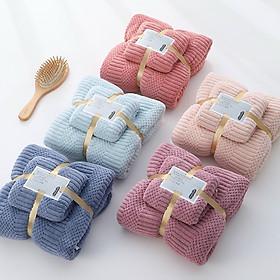 Bộ 2 khăn Hàn Quốc có túi lưới rút nơ siêu xinh (1 khăn tắm+1 khăn mặt)