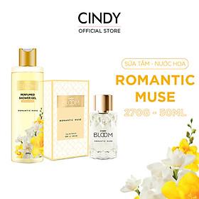 Bộ Nước Hoa Cindy Bloom 50ml & Sữa Tắm Nước Hoa 270g Romantic Muse - Quyến Rũ
