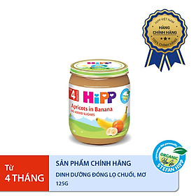 Dinh dưỡng đóng lọ ăn dặm Chuối Mơ HiPP Organic 125g