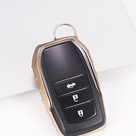 Soft TPU Car Key Case For AT Toyota Camry Highlander Prado Corolla RAV4 Car Key Cover Shell Car Keychain