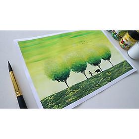 [RẺ NHẤT] Giấy vẽ màu nước A4 100gsm/180gms vẽ phác thảo, kí họa, phác họa,..màu trắng tự nhiên chống mỏi mắt