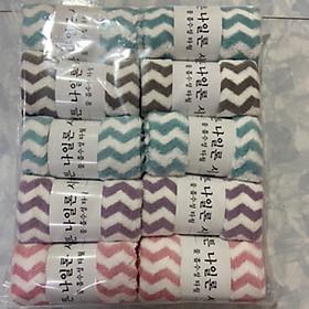 Combo 5 khăn mặt lông cừu Hàn Quốc cao cấp. Kích thước 30x50cm