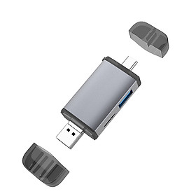 Multifunction 6 in 1 Type-c OTG Card Reader SD/TF/ with USB