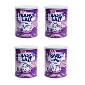 Bộ 4 Lon Sữa cho trẻ sinh non, nhẹ cân Pre France Lait 400g
