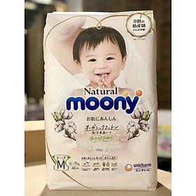 Bịch bỉm bông organic Moony natural Size M dán