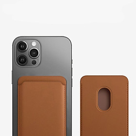 Ví Da Leather Wallet with Magsafe Dành Cho iPhone 12 mini / iPhone 12 / iPhone 12 Pro / iPhone 12 Promax