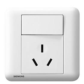 Ổ Cắm 3 Lỗ Kèm Công Tắc Bật/Tắt Cho Điều Hòa/Ấm Điện Siemens (16A) - Trắng