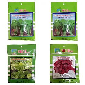Hạt giống combo 4 túi: 2 Cải ngọt+ 1 rau dền+ 1 mồng tơi