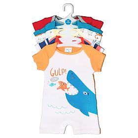 Set 5 Áo Liền Quần Tay Ngắn Cho Bé Trai ( Body Đùi ) Baby Wear ( Màu Ngẫu Nhiên )