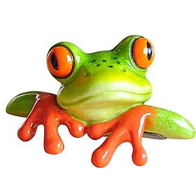 Resin Creative 3D Craft Frog Figurine Office Desk Computer Decor Ornament