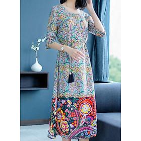 Đầm Suông Họa Tiết Hoa Kèm Dây Thắt Eo Gia Minh T&T - GMTT2003