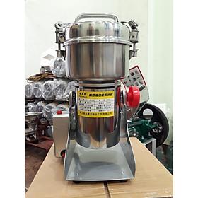 Máy xay bột ngũ cốc dinh dưỡng loại 800g mạnh mẽ tiện dụng nắp gài (inox bạc)