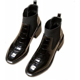 Giày Bốt Da Cao Gót Thời Trang Dành Cho Nữ