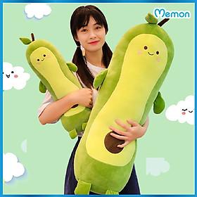 Gấu bông Quả bơ gối ôm cao cấp - Hàng chính hãng Memon - Quả bơ gối ôm nhồi bông cho bé, Chất liệu Bông gòn PP 3D tinh khiết, đàn hồi đa chiều, sản phẩm chính hãng bền đẹp, an toàn cho người sử dụng