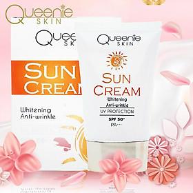 Kem Chống Nắng Queenie Skin - Chống Lại Các Tia UVA/UVB Từ Mặt Trời, Giúp Da Không Bị Tổn Thương Khi Đi Dưới Nắng - 50 ML - Hàng Chính Hãng