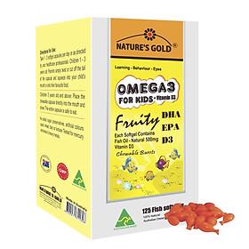 Omega 3 For Kids & Vitamin D3 - fish oil – DHA, EPA, APP - 125 viên/hộp