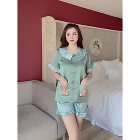 sét đồ bộ mặc ở nhà pijama nữ đùi lụa đẹp hot trend