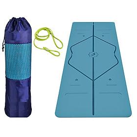 Thảm Tập Yoga Định Tuyến 2 Lớp miDoctor + Bao Đựng Thảm Tập Yoga Định Tuyến + Dây Buộc Thảm Tập Yoga (màu ngẫu nhiên)