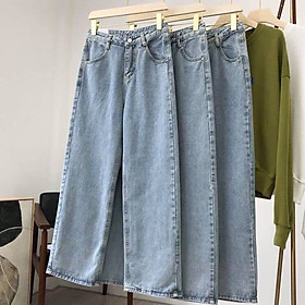 quần jean nữ ống rộng lưng cao