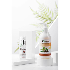 Combo sữa tắm và serum giúp ngăn ngừa mụn, viêm nang lông Cita Herb