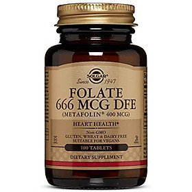 Folate 666 MCG DFE (Metafolin 400 MCG) Tablets - 100 Count