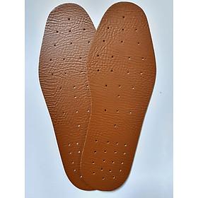 Lót Giày Da Cao Cấp Đục Lỗ Thoáng Khí Free Size, Chống Hôi Chân Hiệu Quả