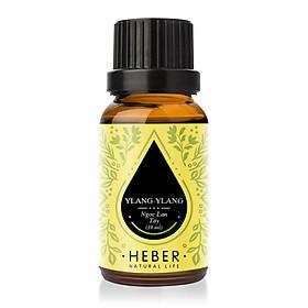 Tinh Dầu Ngọc Lan Tây Ylang-Ylang Essential Oil Heber | 100% Thiên Nhiên Nguyên Chất Cao Cấp | Nhập Khẩu Từ Ấn Độ | Kiểm Nghiệm Quatest 3 | Xông Hương Thơm Phòng