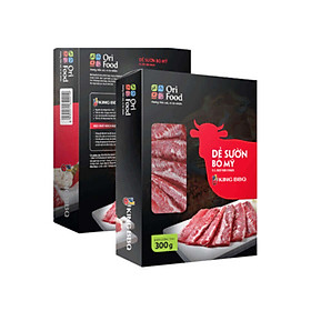 King BBQ Dẻ Sườn Bò Mỹ Orifood Hộp 300g